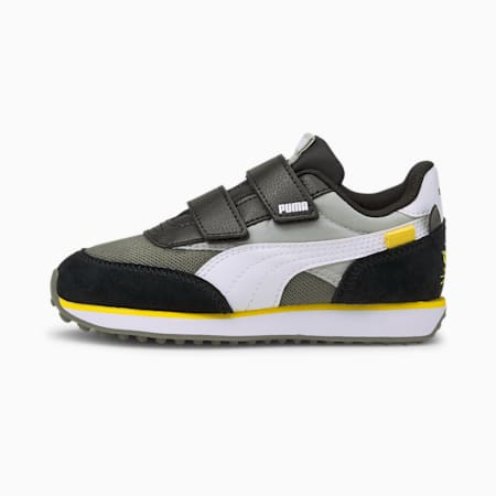 Future Rider Animals V Kids' Trainers, Gray Violet-Puma White, small