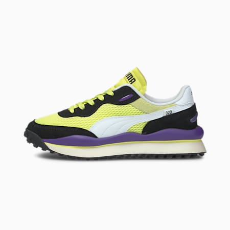 Style Rider Stream On Women's Sneakers, Sunny Lime-Puma Black, small