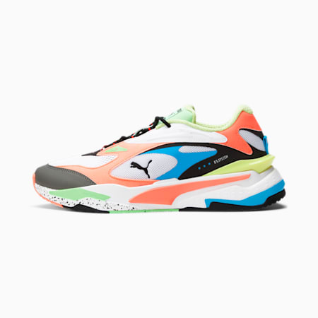 RS-Fast Sneakers, Puma White-Peach-Blue, small