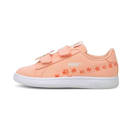 Smash v2 Summer Animals Kinder Sneaker, Apricot Blush-Tigerlily, small