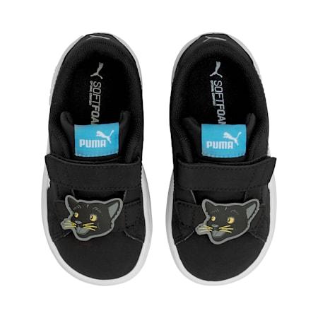 Smash v2 Summer Animals Babies' Trainers, Puma Black-Puma White, small-SEA