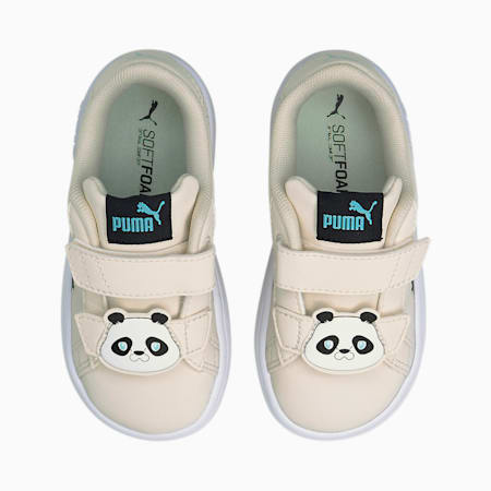 Smash v2 Summer Animals Baby Sneaker, Eggnog-Puma Black, small