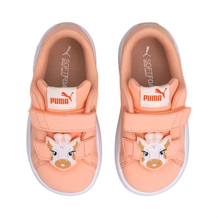 Smash v2 Summer Animals Babies' Trainers, Apricot Blush-Tigerlily, small-SEA