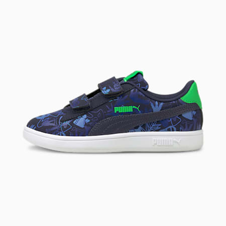Smash v2 Archeo Summer Kids' Trainers, Peacoat-Peacoat, small-GBR