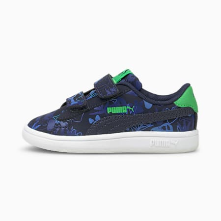 Smash v2 Archeo Summer Babies' Trainers, Peacoat-Peacoat, small-GBR