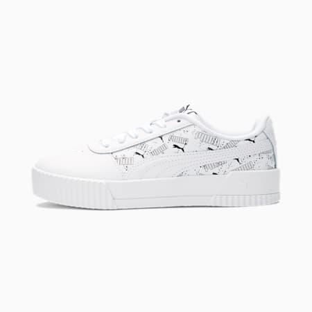 Carina Hand Drawn Sneakers JR, Puma White-Puma Black, small