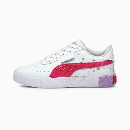 Cali Unicorn Kids' Trainers, Puma White-Virtual Pink, small