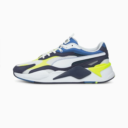 RS-X³ Twill Air Mesh Trainers, Puma White-Peacoat, small