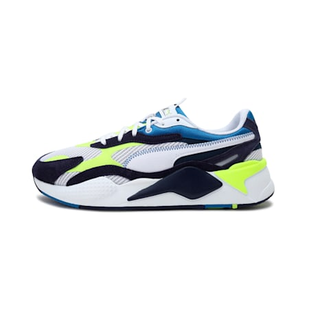 RS-X³ Twill Air Mesh Shoes, Puma White-Peacoat, small-IND