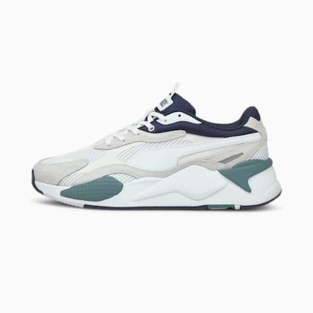 RS-X³ Twill Air Mesh Trainers, Puma White-Puma White, small