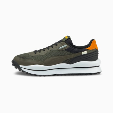 Style Rider Cyborg Trainers, Forest Night-Puma White, small-GBR