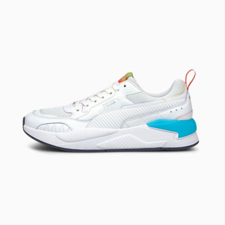 X-Ray² Square Rainbow Trainers, White-White-Blue-Poppy Red, small