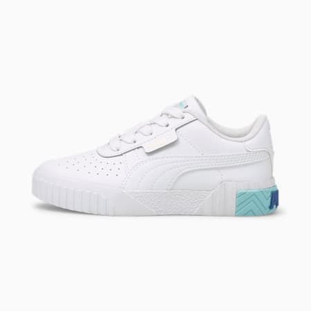 Cali Kids' Trainers, Puma White-Island Paradise, small