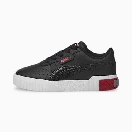 Cali sneakers kinderen, Puma Black-Persian Red, small