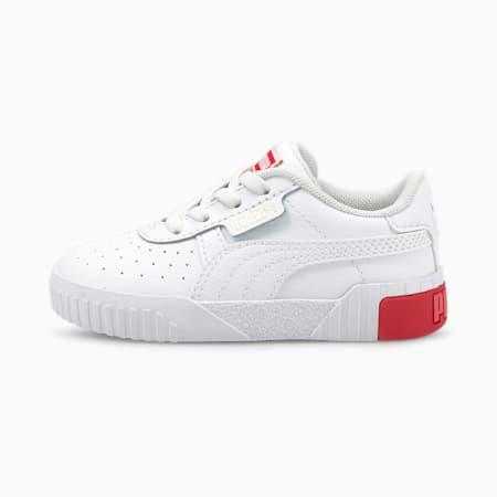 Zapatos Calipara bebés, Puma White-Poppy Red, pequeño