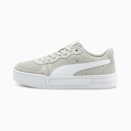 Zapatos deportivos de caña baja PUMA Skye para mujer, Gray Violet-Puma White, pequeño