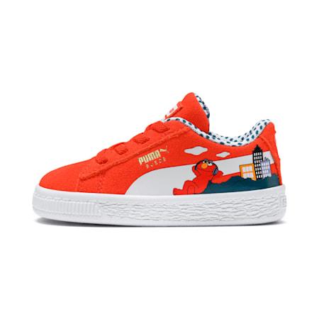 Sesame Street 50 Suede Toddler Shoes, Cherry Tomato-Puma White, small