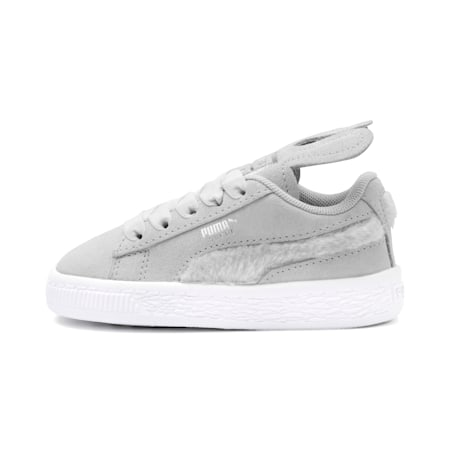 Suede Easter Kids' Trainers, Glacier Gray-Coral Cloud, small-SEA