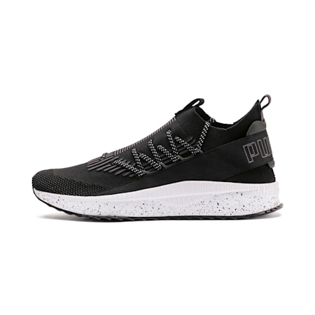 Tsugi Kai Jun Speckle evoKNIT Trainers, Puma Black-Asphalt, small-SEA