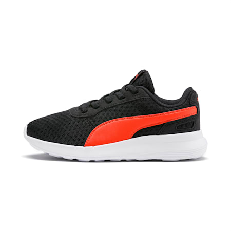 ST Activate AC Kids' Shoes, Puma Black-Cherry Tomato, small-IND