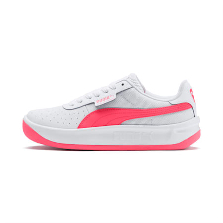 California Sneakers JR, Puma White-Pink Alert, small