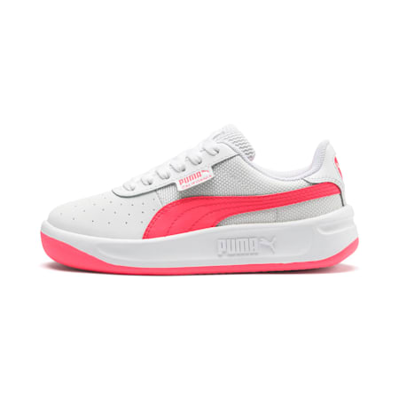 California Little Kids' Shoes, Puma White-Pink Alert, small