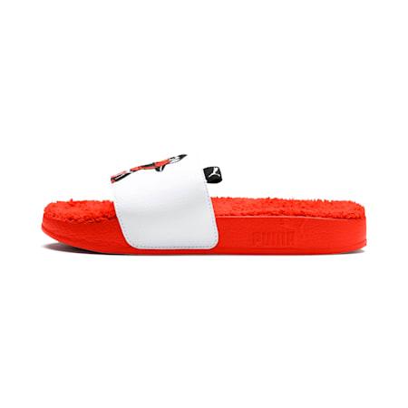 Sesame Street 50 Junior Leadcat Sandals, Cherry Tomato-Puma White, small-SEA