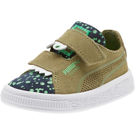 Suede Monster Babies' Trainers, Olivine-Peacoat-Irish Green, small-SEA