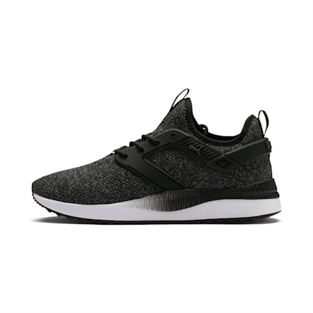 Pacer Next Excel VariKnit Shoes, Puma Black-Charcoal Gray, small-IND