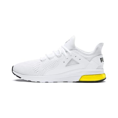 Electron Street Mesh SoftFoam+ Shoes, Puma White-Puma Black-Yellow, small-IND