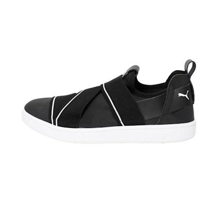 PUMA Smash v2 SlipOn Walking Shoes, Puma Black-Puma White, small-IND