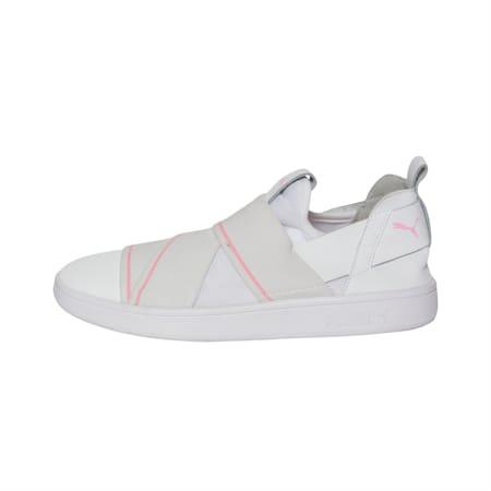 PUMA Smash v2 SlipOn Walking Shoes, Puma White-Pale Pink, small-IND