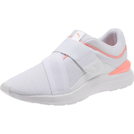 Adela X Women's Shoes, Puma White-Peach Bud, small-IND