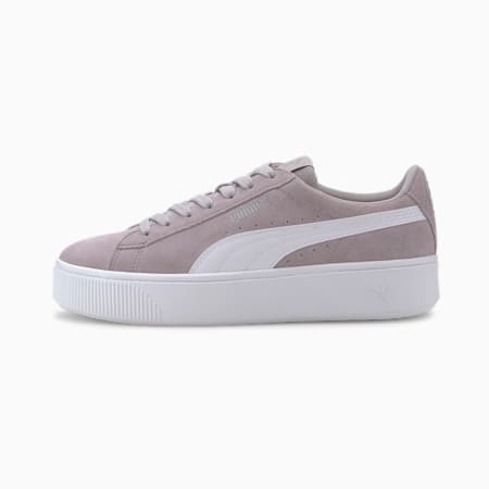 PUMA Vikky Stacked Suede Women's Sneakers, Raindrops-Puma White, small