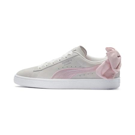 スウェード BOW ヘキサメッシュ ウィメンズ, Marshmallow-Pale Pink, small-JPN