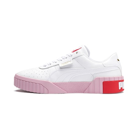 Cali Women's Sneakers, Puma White-Pale Pink, small-IND