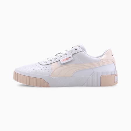 Cali Women's Sneakers, Puma White-Rosewater, small