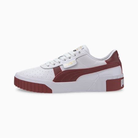 Cali Women's Sneakers, Puma White-Burnt Russet, small