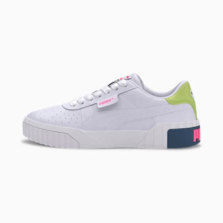Cali Damen Sneaker, Puma White-Luminous Pink, small