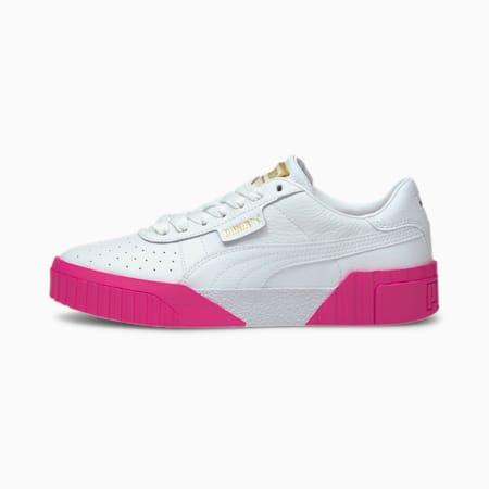 Cali Women's Sneakers, P White-Puma White-Fluo Pink, small