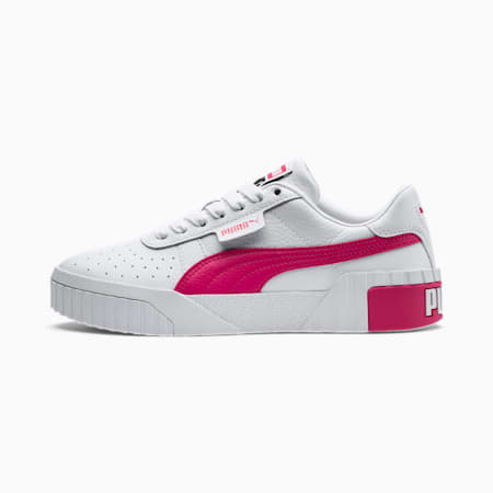 Basket Cali pour femme, Puma White-Glowing Pink, small