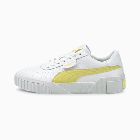 Cali Women's Sneakers, Puma White-Yellow Pear, small