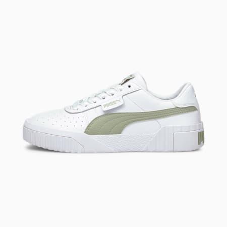 Cali Damen Sneaker, Puma White-Desert Sage, small