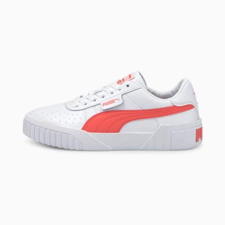 Cali Women's Sneakers, Puma White-Sun Kissed Coral, small
