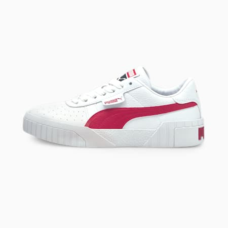 Cali Damen Sneaker, Puma White-Persian Red, small