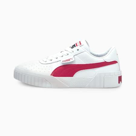 Cali sportschoenen voor dames, Puma White-Persian Red, small