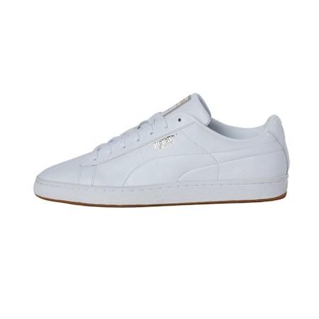 Basket Classic Gum Shoes, Puma White-Gum, small-IND