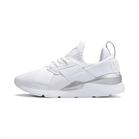 Muse Perf Women's Sneakers, Puma White-Puma Silver, small