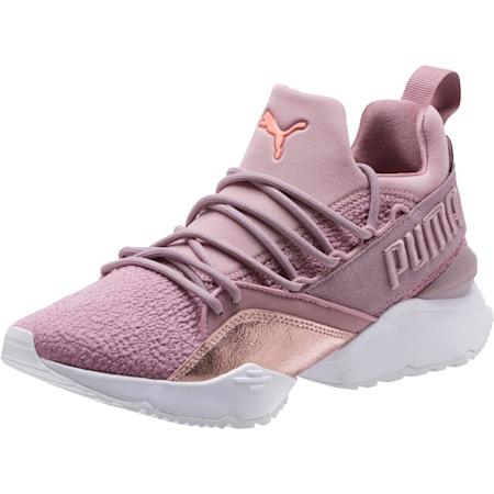 Muse Maia Bio Hacking Women's Sneakers, Elderberry-Bright Peach, small