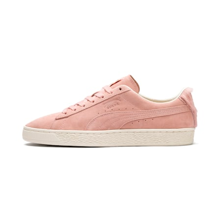 Suede Classic Easter Sneakers, Coral Cloud-Whisper White, small